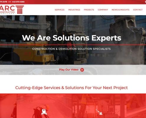 ARC Construction - Website Designer Washington DC