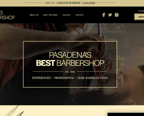 Brice's Barbershop - Website Designer Washington DC