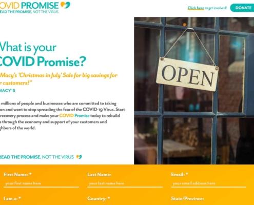 COVID Promise - Website Designers in DC